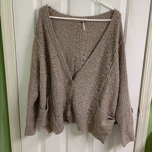 Oatmeal color Free People sweater size large
